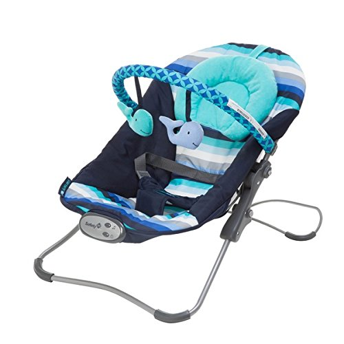 Big Save! Carter's Snug Fit Bouncer in Whale of a Time, Twelve tranquil melodies delight andsoothe
