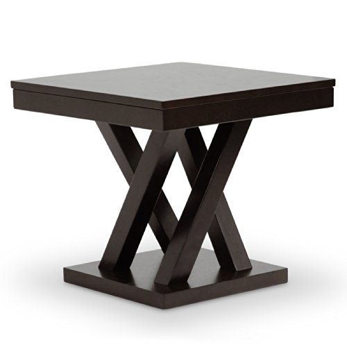 Table Painted Contemporary - Baxton Studio Everdon Modern End Table, Dark Brown