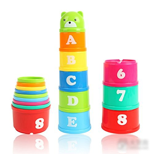 Foxnovo Non-Toxic Educational Baby Toddler Stacking Cups