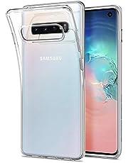 Spigen 605CS25796 Liquid Crystal Kompatibel mit Samsung Galaxy S10 Hülle, Transparent TPU Silikon Handyhülle Schutzhülle Case Crystal Clear