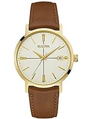 Bulova mens 97B151 20mm Leather Calfskin Brown Watch Bracelet