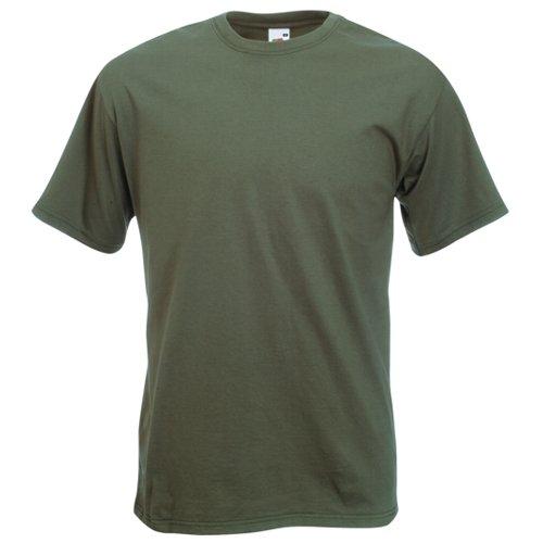 Fruit of the Loom Super Premium T-Shirt–Oliv mittel