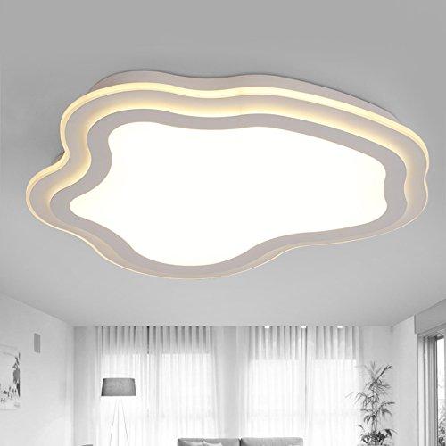 SSBY Creative Cloud ultra-dünne LED Deckenleuchte förmige Wohnzimmer Lampe Studie dekorative Deckenleuchte modernen minimalistischen Schlafzimmer Kinderzimmer Lampe Leuchte Weiß/110-220 V , Durchmesser 60cm