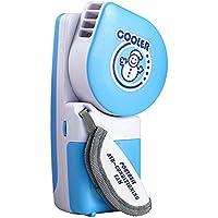 Portable Mini Hand Held Handy Usb/battery Mini Air Conditioner Cooler Fan, Blue