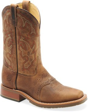 Boot H Western Boot Double - Double H Mens 10 Inch DH3560 Wide Square ICE Roper Tan