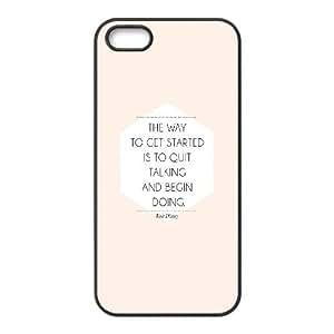 iPhone 4 4s Cell Phone Case Black quit talking start doing Ztvpt