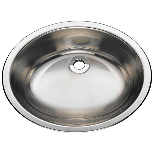 MR Direct 1917 18-Gauge Dual-mount Single Bowl Stainless Steel Vanity Sink (Oval Vanity Sink)