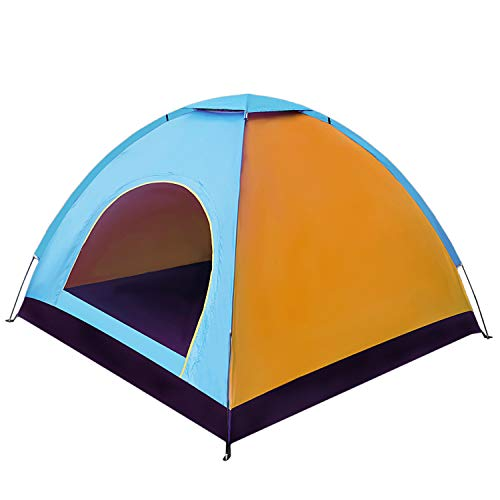 TOOGOO 2 Person Camping Tent Backpacking Dome Shelter Outdoor Thick Sunscreen Small Tent Camping Gear For Hiking…