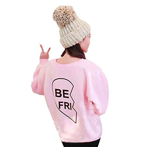 ANBOO Bestie BFF Best Friend BE FRI/ST END Sweatshirt Matching Outfit Sister Sweater (M, BE FRI Letter)