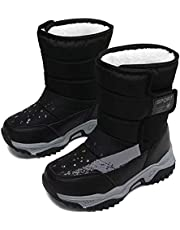 Snow Boots Kids,Boys Winter Boots,Girls Snow Boots,Child Snow Boots,Waterproof Winter Boots for Big Kids,Unisex-Child Snow Boots,Outdoor Toddler Shoes, Waterproof Toddler Boots,Warm Non-Slip Lightweight Boots(Toddler/Little Kid/Big Kid)