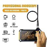 IM113 Handheld Endoscope Camera Industrial Endoscope - Borescope Inspection Camera, 3M 1080P HD Semi-Rigid Snake Waterproof Video Recording Handhold Camera with 4.3inch LCD Screen 2600mAh Battery