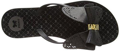 Zaxy Fresh Butterfly Sandalias Flip Flop, Mujer Negro (Black Glitter)