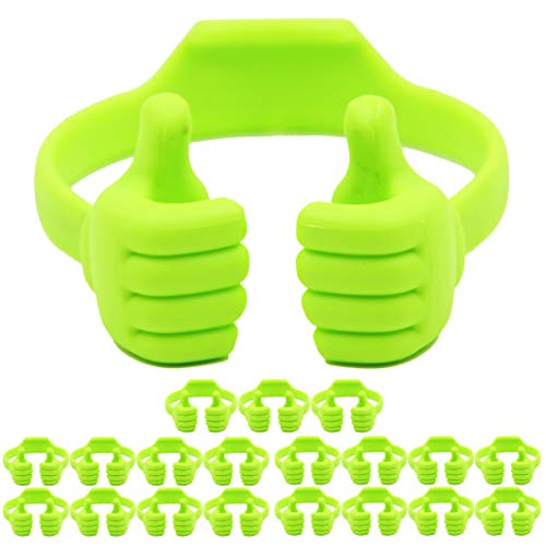Cell Phone Tablet Stands (20 Packs): Honsky Thumbs-up Cellphone Holder, Tablet Display Stand, Mobile Smartphone Mount Cradle for Desk Desktop - Universal, Multi-Angle, Cute, Green