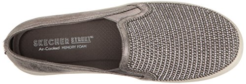Dancer Women's Platforms up Shiny Skechers Pewter Double fHBOcw