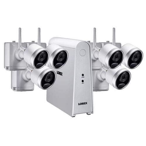 Lorex 6-Channel, 6-Camera Indoor/Outdoor Wire Free 1080p 1TB DVR Surveillance System White LHWF16T1C6B