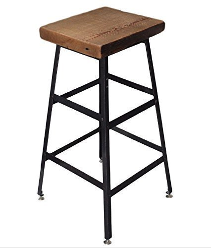 Barstool, Counter stool, Work stool, Commercial Barstool, Reclaimed Wood Industrial Steel, Free Shipping