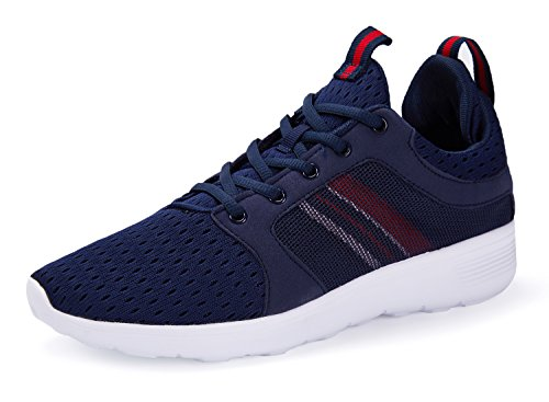 A-PIE Men's Running Shoes Fashion Breathable Sneakers Mesh Soft Sole Casual Athletic Lightweight Blue7 Review