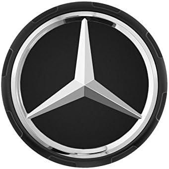 schwarz matt im Zentralverschlussdesign Mercedes-Benz AMG Radnabenabdeckung