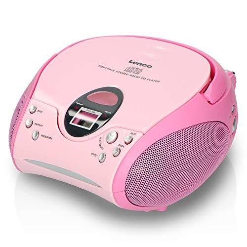 Lenco Radio CD-speler SCD-24 draagbare en telescopische antenne, roze
