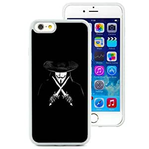 NEW Unique Custom Designed iPhone 6 4.7 Inch TPU Phone Case With V For Vendetta Man With Knifes_White Phone Case