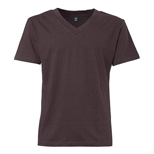 ThokkThokk TT18 V-Neck T-Shirt Dark Brown