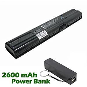 Battpit™ Laptop / Notebook Battery Replacement for Asus A6000J (4400mAh / 65Wh) with 2600mAh Power Bank / External Battery (Black) for Smartphone.