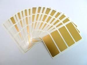 Minilabel - Etiquetas (autoadhesivas, rectangulares, 50x20mm, mate, 80 unidades), color dorado