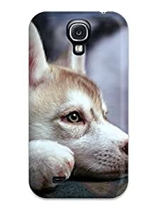 Best Durable Case For The Galaxy S4- Eco-friendly Retail Packaging(husky Puppy)