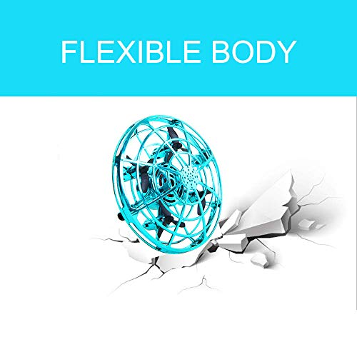 ZGYQGOO Hand Operated Drones for Kids 6 8 10 Year Old - Drone Toys for 5 6 7 8 9 10 Year Old Girls and Boys, Mini Easy Indoor Small Orb Flying Ball Indoor/Outdoor Teen Girl Gifts Blue by ZGYQGOO (Image #3)