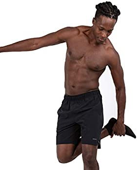 Skora Mens Two in One and Unlined Athletic Running Shorts with Pockets and Zip Back Pocket