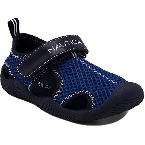 Nautica Kids Kettle Gulf Protective Water Shoe,Closed-Toe Sport Sandal-Navy/Blue-10