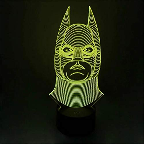 Novelty Batman Joker Smile Double Face 3D Illusion Bulb Lamp Led Night Light USB Table Desk Lamps Bedroom Lamps 3D Led