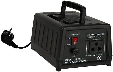 E-Lektron 300W USA Spannungswandler 220//240V auf 110//120V