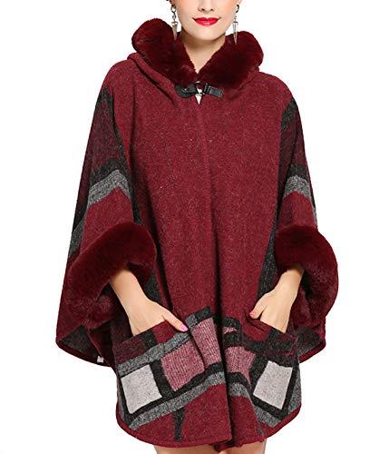 ladies hooded cape - 7