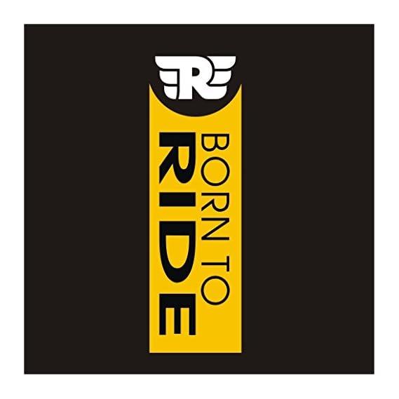 CVANU Born To Ride Logo Royal Enfield Bullet Sticker- Classic 350 Bike,Chaise,Rear,Sides,Bumper Sportive Sticker_CB01