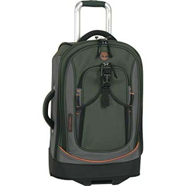 Timberland Luggage Claremont 21-Inch Upright Carry On Bag, Olive/Orange, One Size