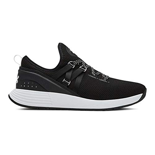 Under Armour Women's Breathe Trainer Sneaker, Black (001)/White, 9 M US