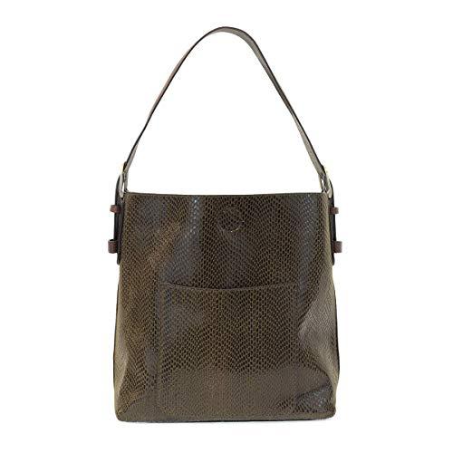 Joy Susan Python Sara Bucket Handbag - Tote Leather Python