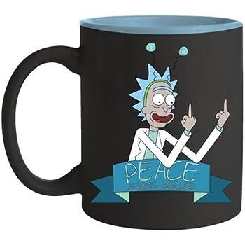 8dbae080bf8 Rick and Morty Print Coffee Mug Cup - Peace Amongst Worlds