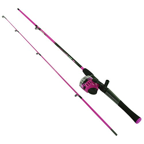 Zebco splash 602m spin cast combo 10 lb pink for Pink fishing rods