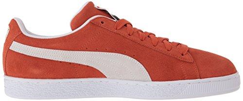Sneaker Classica In Pelle Scamosciata Color Puma Bruciata Ocra-puma Bianca