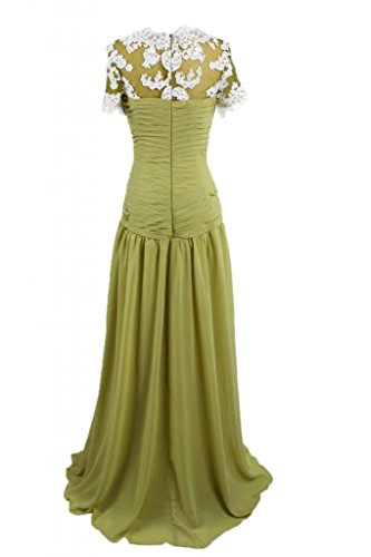 da in gioiello Mother's Dress Sunvary abito lungo sera sera raso Army Green elegante qpf6w4Y