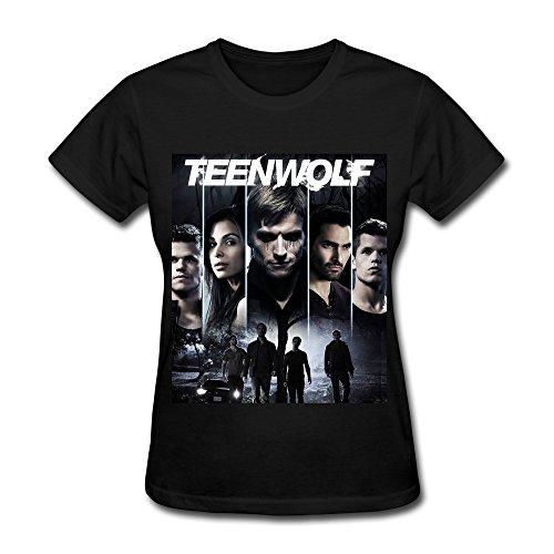LR Women's Teen Wolf Poster Season 3 Cotton T-Shirt Black XXL
