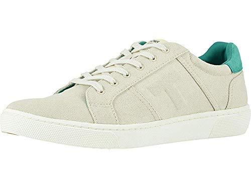 TOMS Men's Leandro Sneaker, Size: 8 D(M) US, Color: Birch/Sea Grn Canvas/Pig