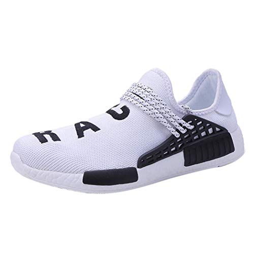 (vermers Women Casual Anti Skidding Ventilation Running Shoes Women Fashion Transform Sneakers Gym Shoes(US:8, White))
