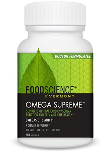 Food Science of Vermont Omega Supreme Softgels, 90 Count by FoodScience of Vermont