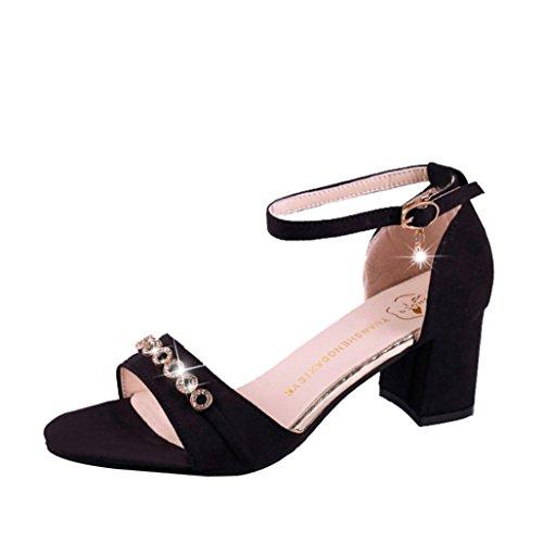 Heel Bk Frauen NEEDRA Sommer Wedges Sandalen Schuhe Böhmen Mode S Weave amp;H Middle Sandalen xTPOwU