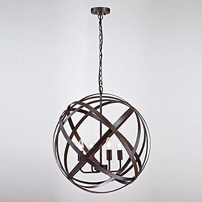 Axiland Industrial Metal Spherical Pendant Displays Changeable Hanging Lighting Fixture