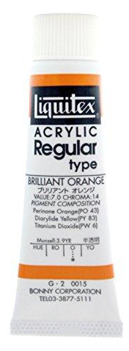 - Liquitex acrylic paints Liquitex color regular type No. 6 tube 15 Brilliant Orange
