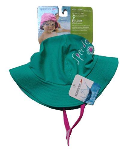 Kids Speedo S/M UV Bucket Hat Green